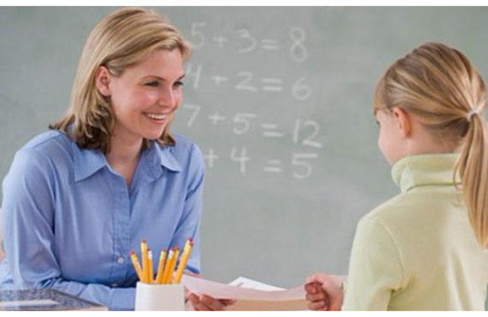 Мама учитель и школьница