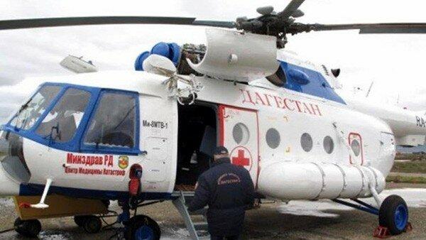 Вертолет Минздрава Дагестана эвакуировал пострадавших при дорожной аварии в Черкесске